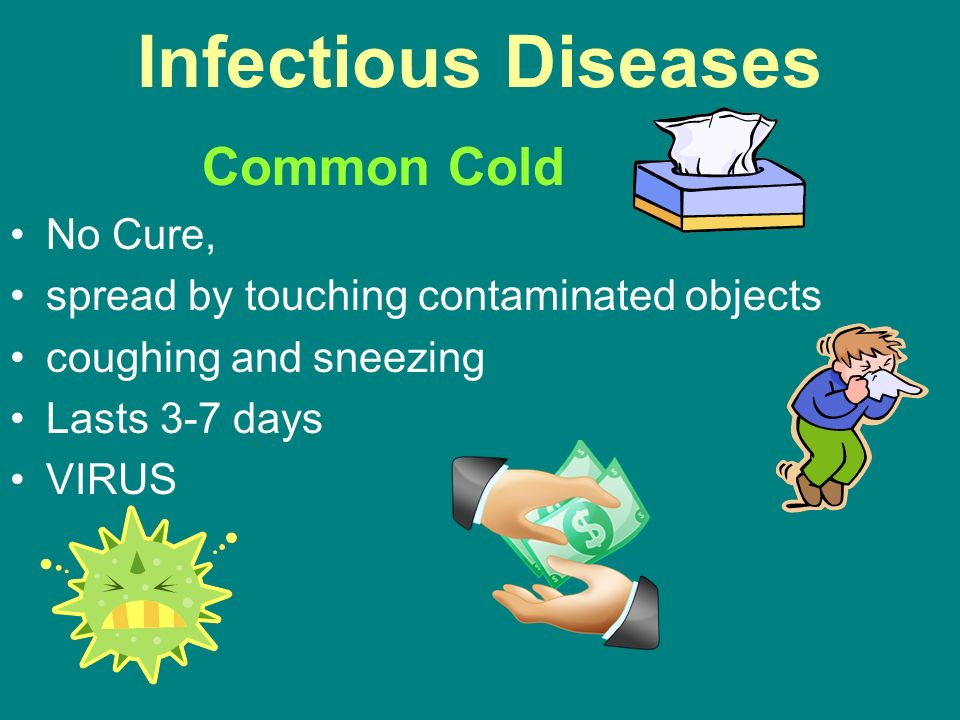 Infectious Diseases Common Cold No Cure,