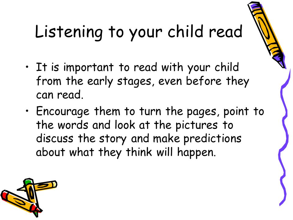 Listening to your child read