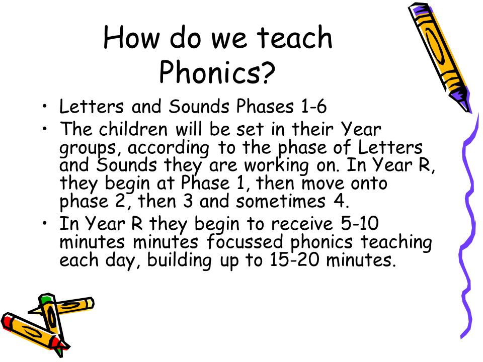 How do we teach Phonics Letters and Sounds Phases 1-6