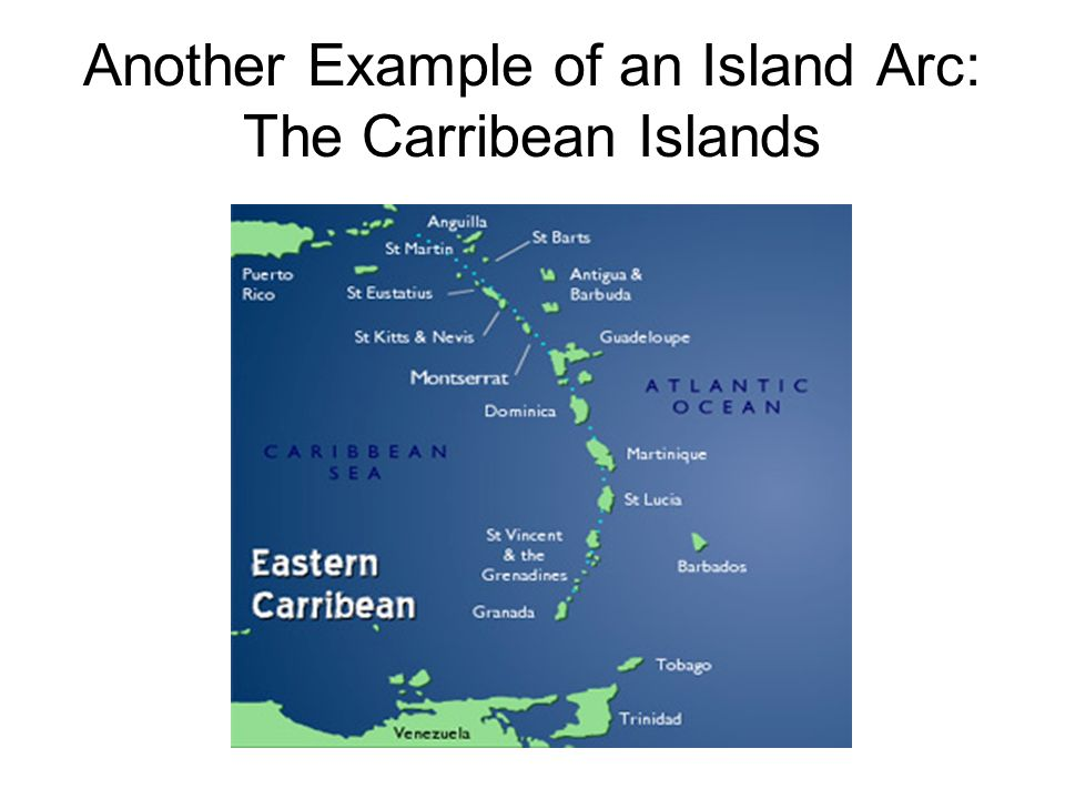Another Example of an Island Arc: The Carribean Islands