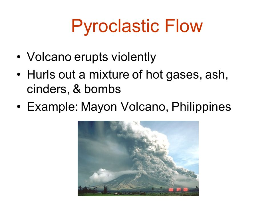 Pyroclastic Flow Volcano erupts violently