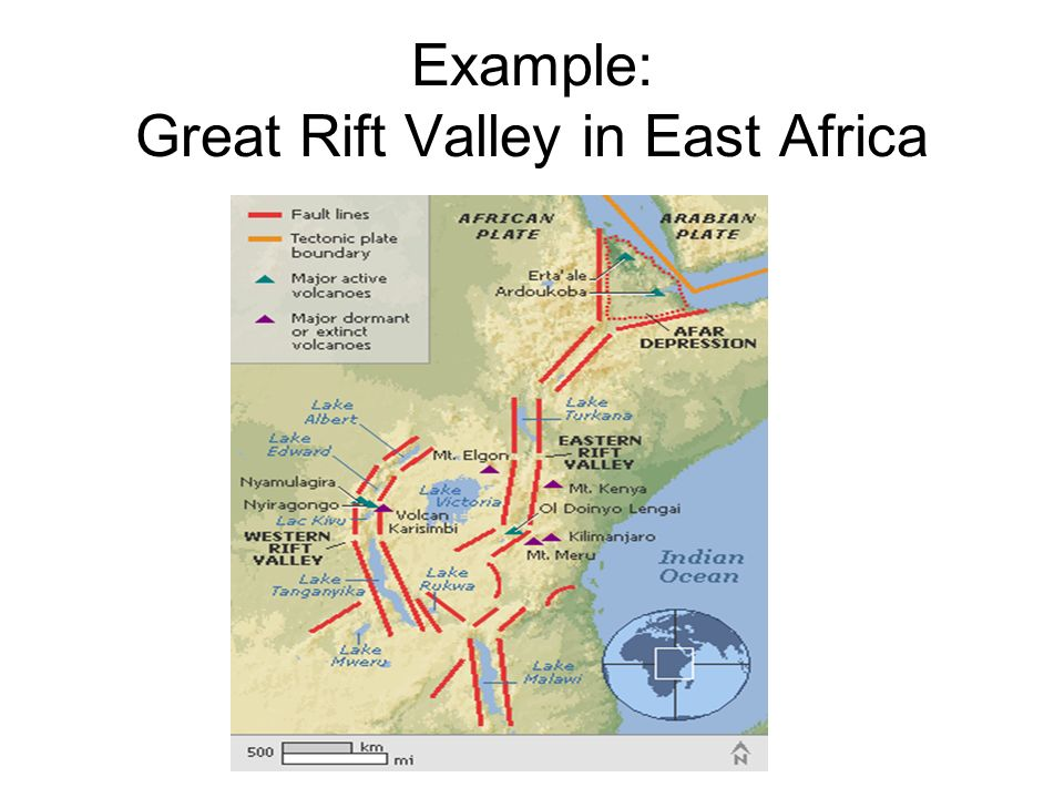 Example: Great Rift Valley in East Africa