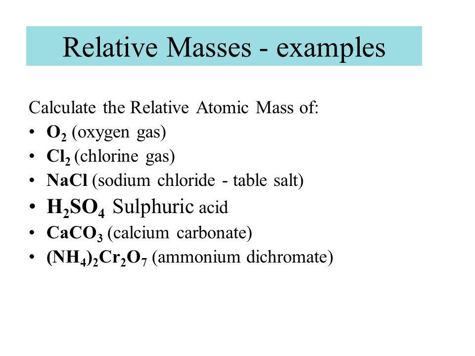 relative molecular mass of calcium carbonate