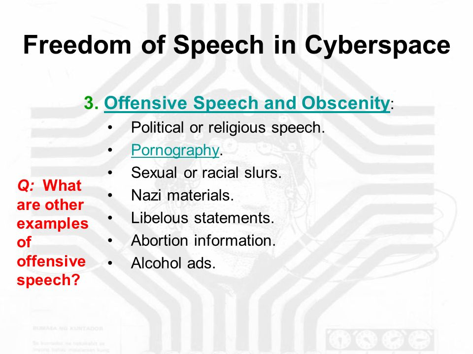 Freedom Of Speech In Cyberspace Ppt Video Online Download
