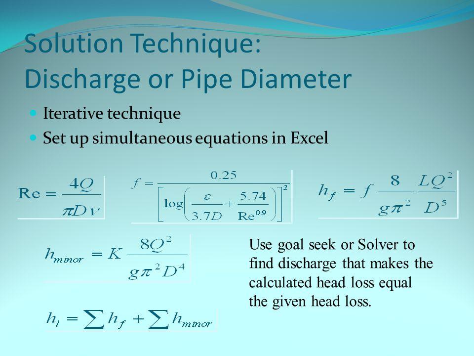 Pipe Sizing Basics Prof. Dr. Mahmoud Fouad Major & Minor Losses ...