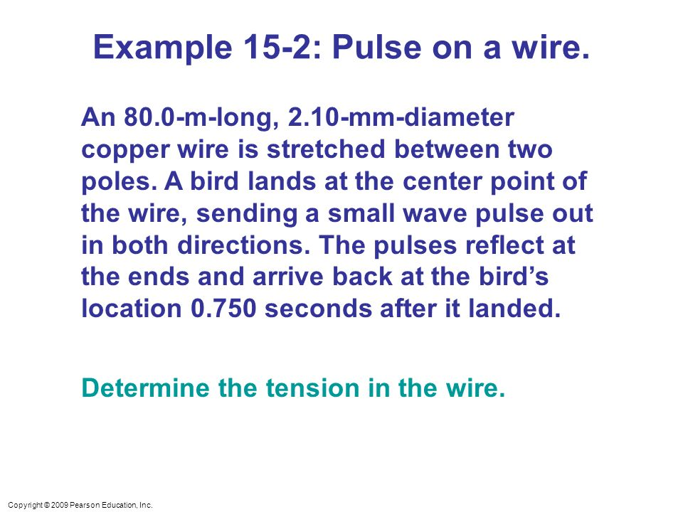 Example 15-2: Pulse on a wire.