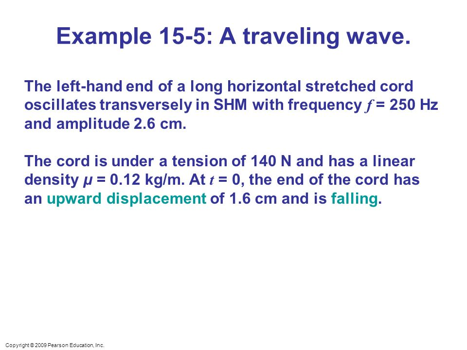 Example 15-5: A traveling wave.