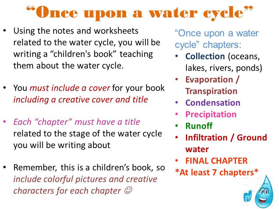 "Printable Worksheets worksheets on the water cycle : Water Cycle Story ""Willy Water"" in the Water Cycle A story about ..."