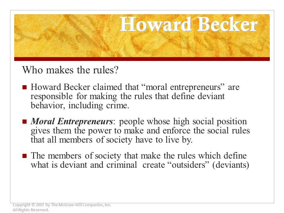 howard becker theory