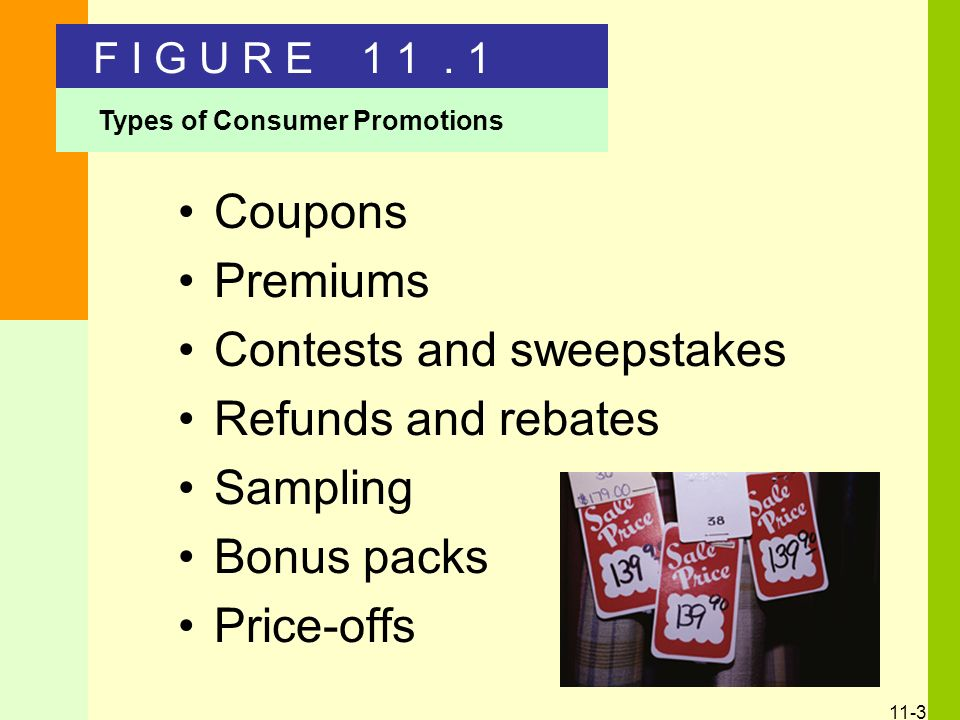 11 Consumer Promotions Chapter Overview Types of consumer