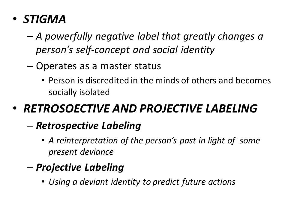 retrospective labeling definition