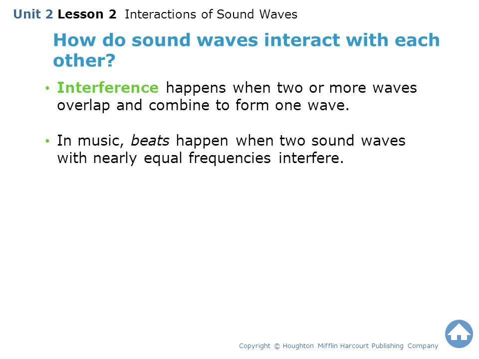 How do sound waves interact with each other