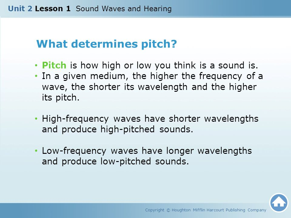 Unit 2 Lesson 1 Sound Waves and Hearing