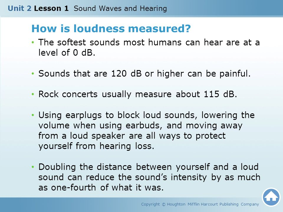 How is loudness measured