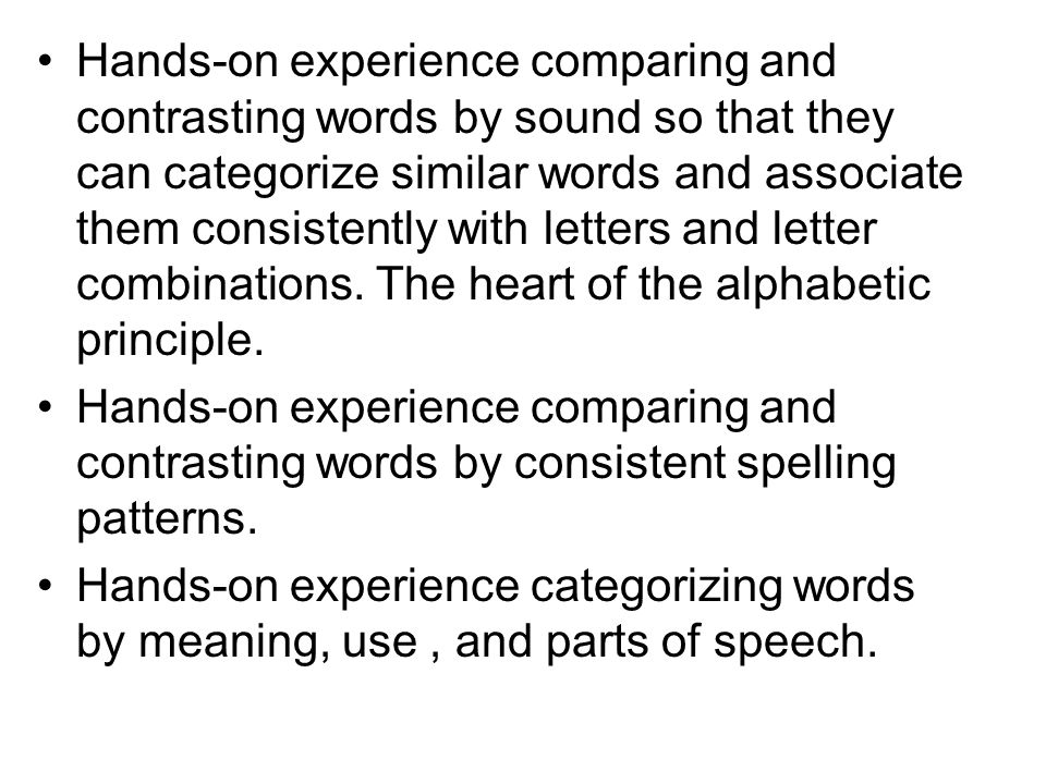 Word Study for Phonics, Spelling and Vocabulary Instruction