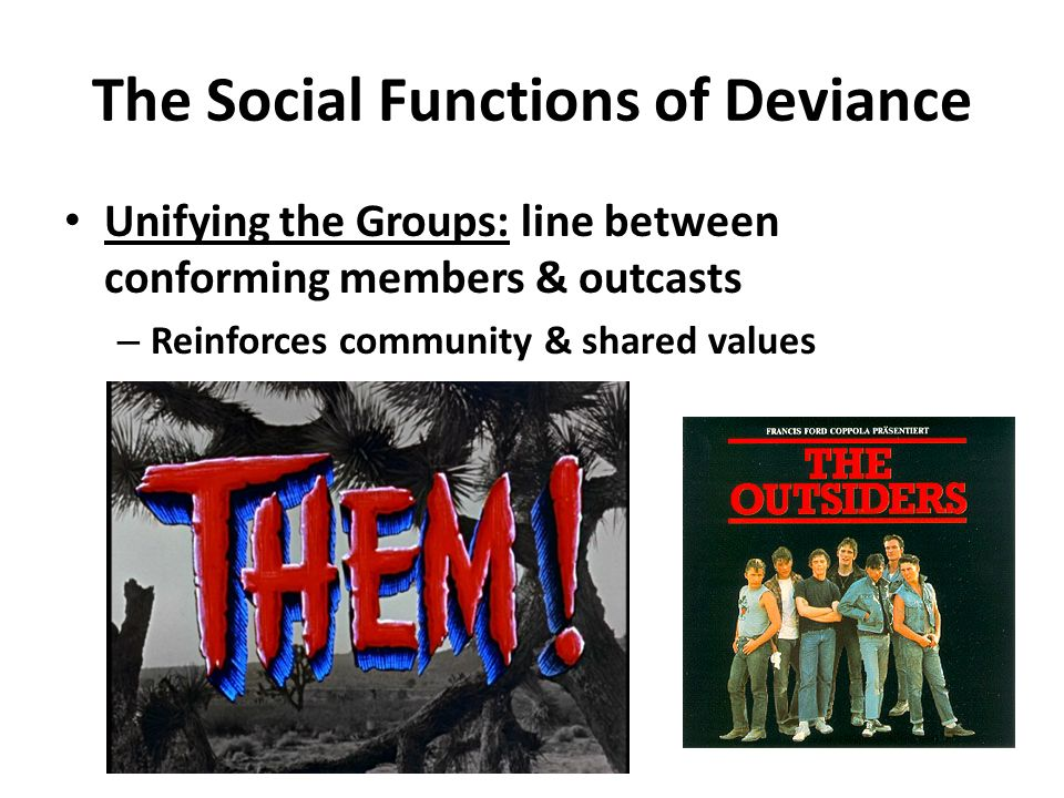 The Social Functions of Deviance