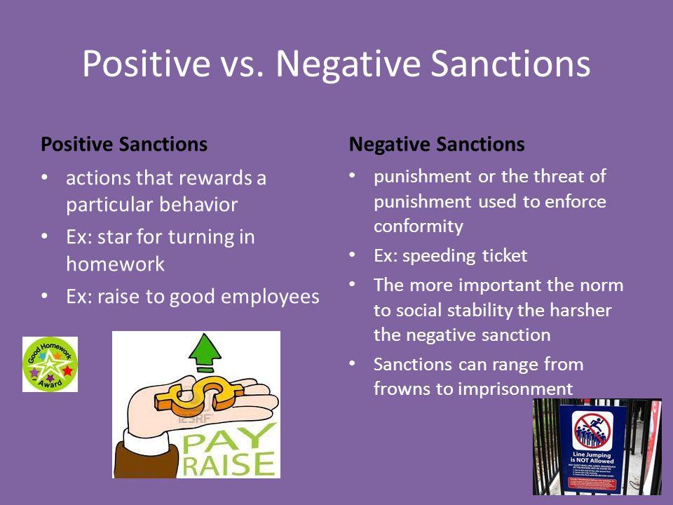 what is a negative sanction