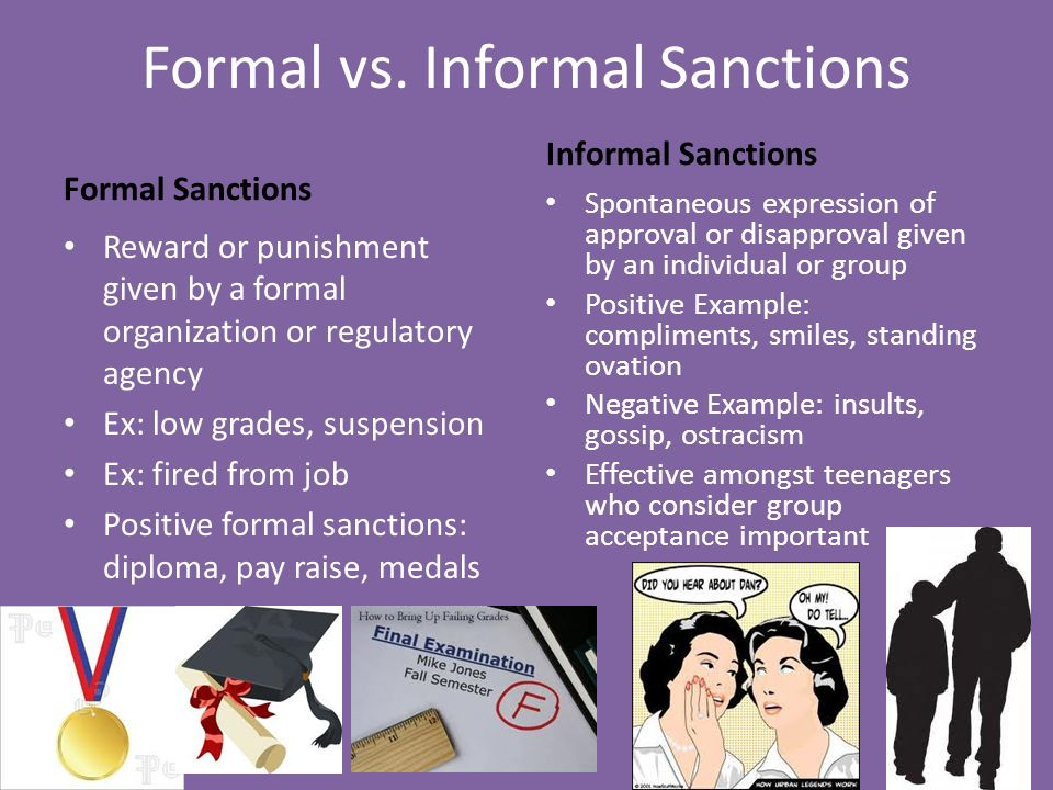 formal sanctions sociology definition