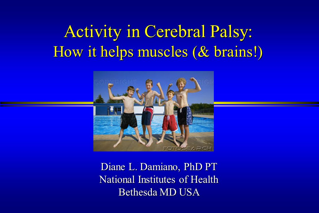 Activity in Cerebral Palsy: How it helps muscles (& brains!)