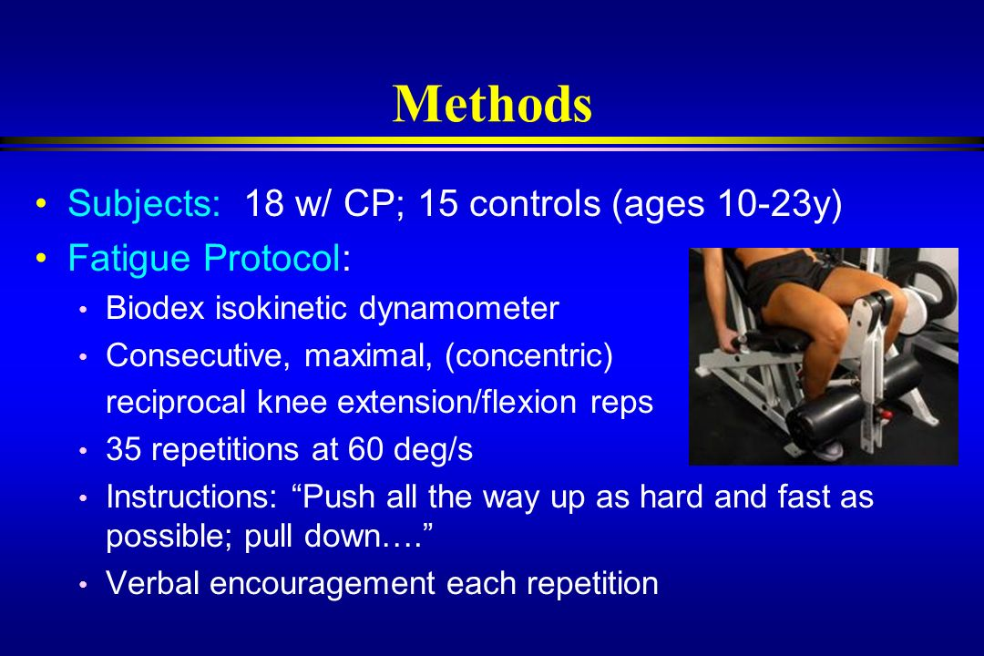 Methods Subjects: 18 w/ CP; 15 controls (ages 10-23y)