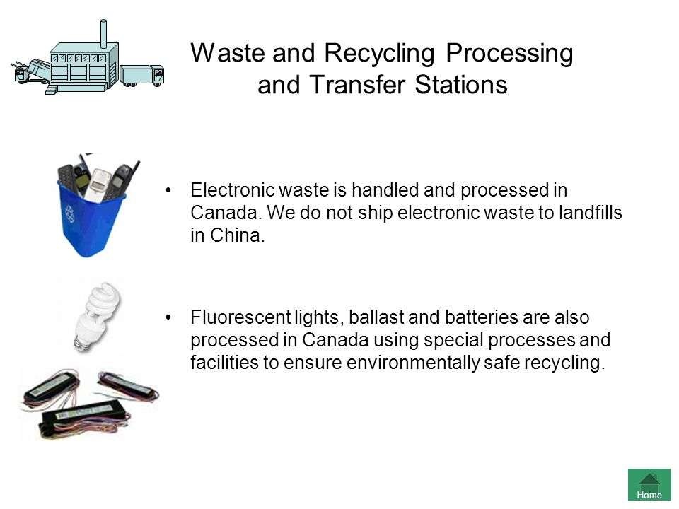 Waste and Recycling Processing and Transfer Stations