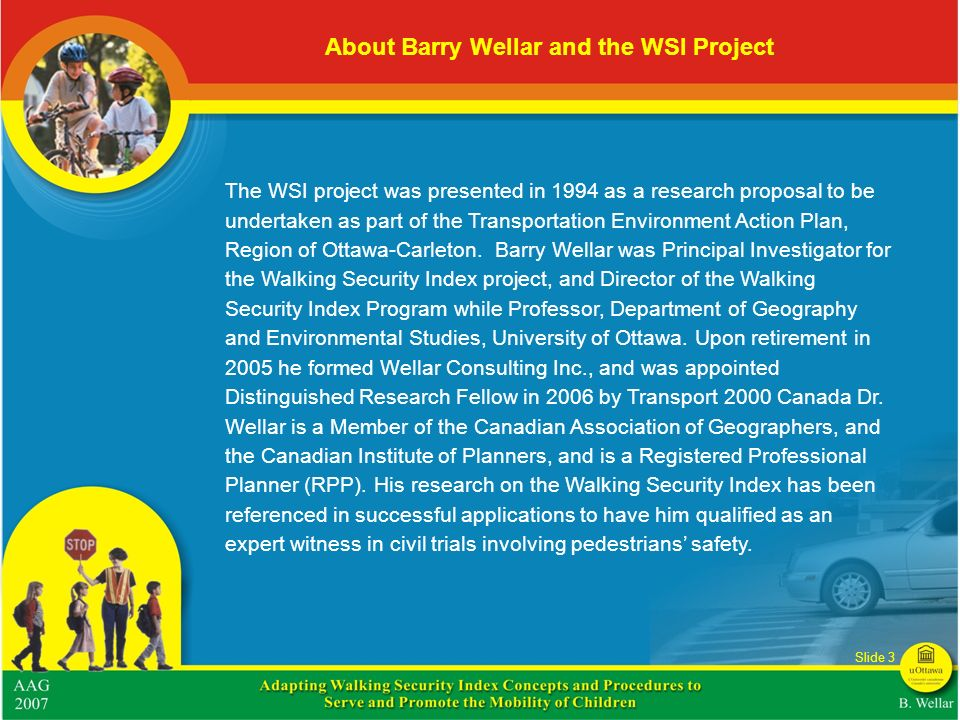 About Barry Wellar and the WSI Project