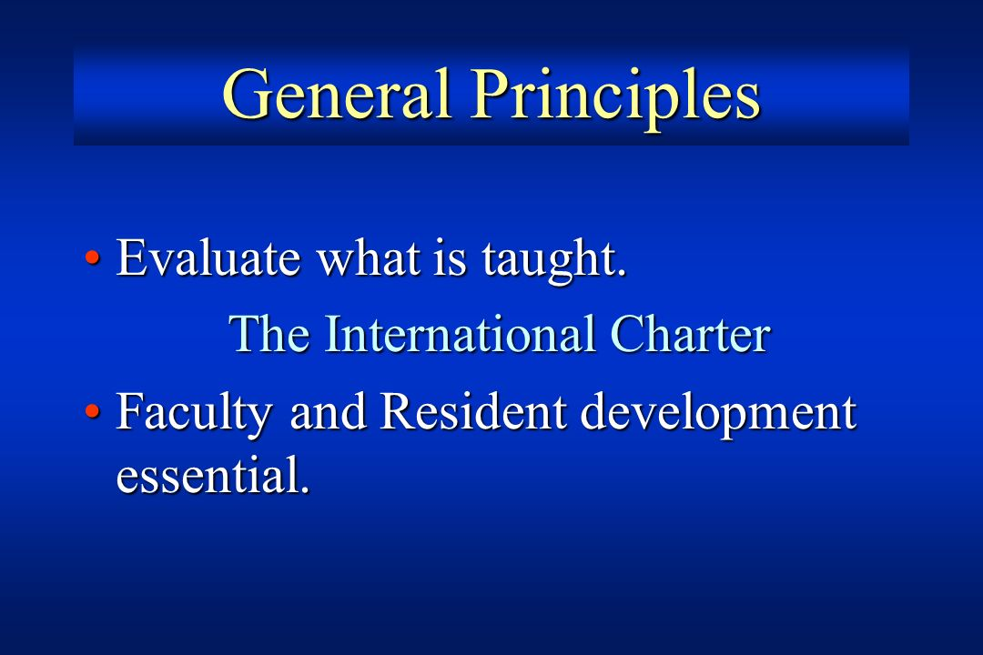 The International Charter