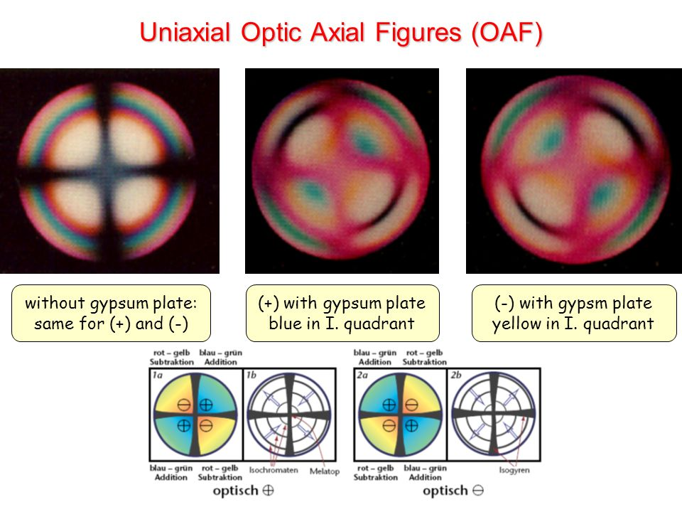 Uniaxial Optic Axial Figures (OAF)
