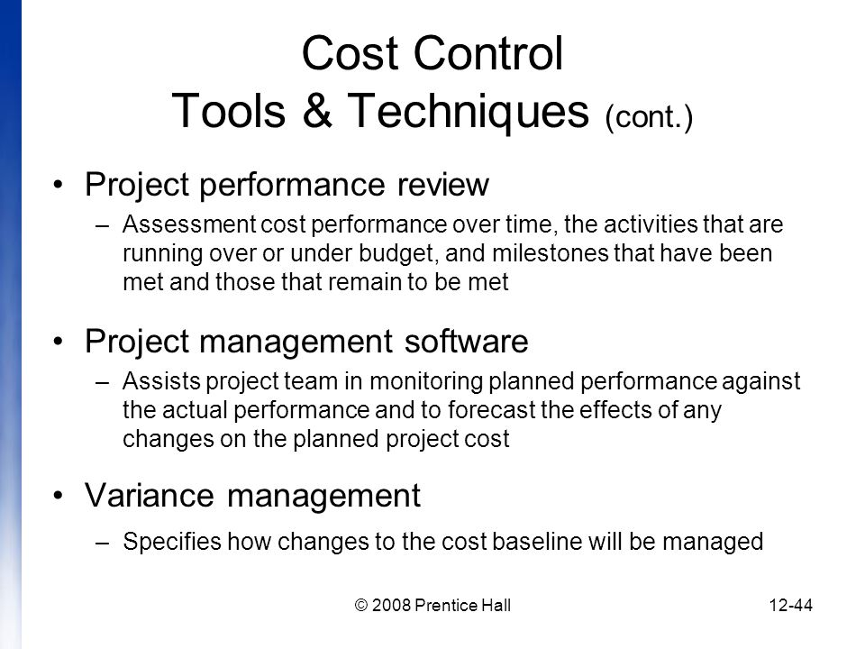introduction to project management chapter 12 managing project