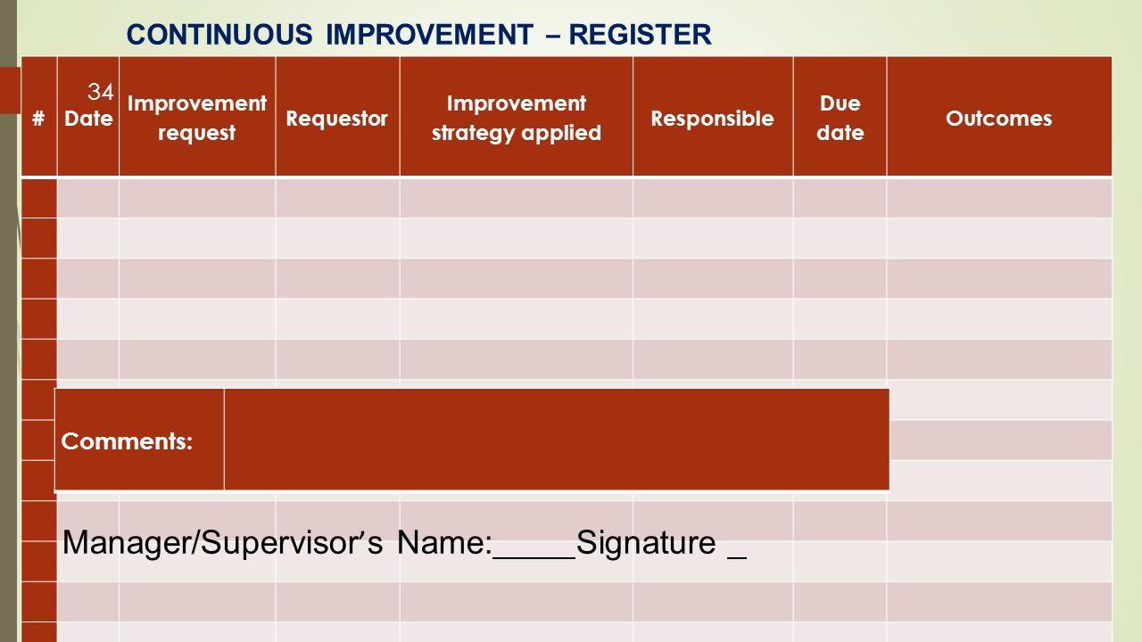 Itil service improvement plan template (excel).