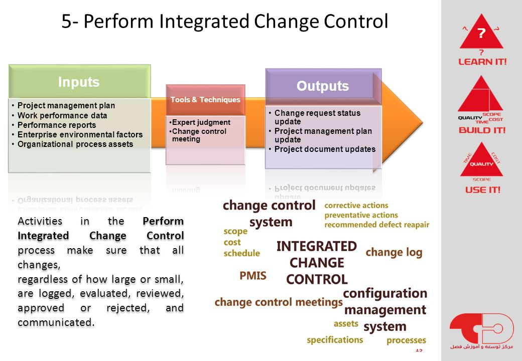 5- Perform Integrated Change Control