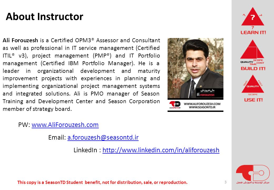 About Instructor PW: