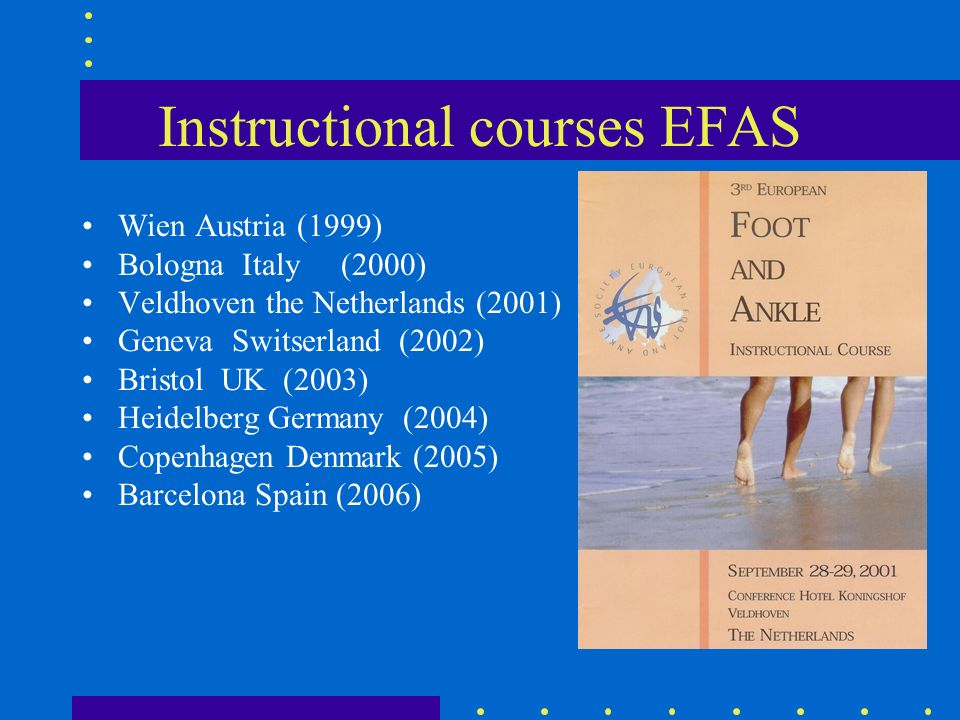 Instructional courses EFAS