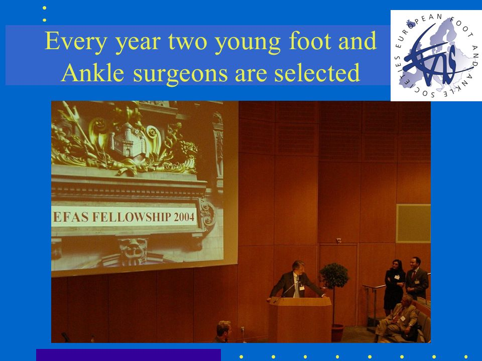 Every year two young foot and Ankle surgeons are selected