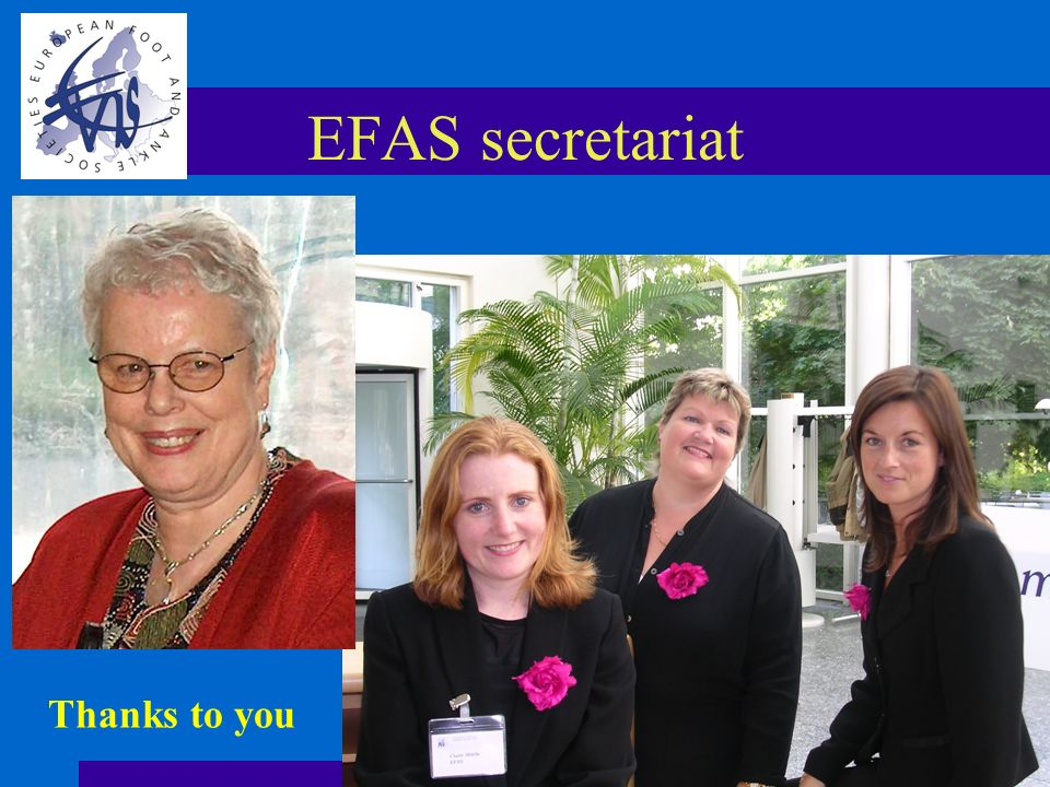 EFAS secretariat Thanks to you