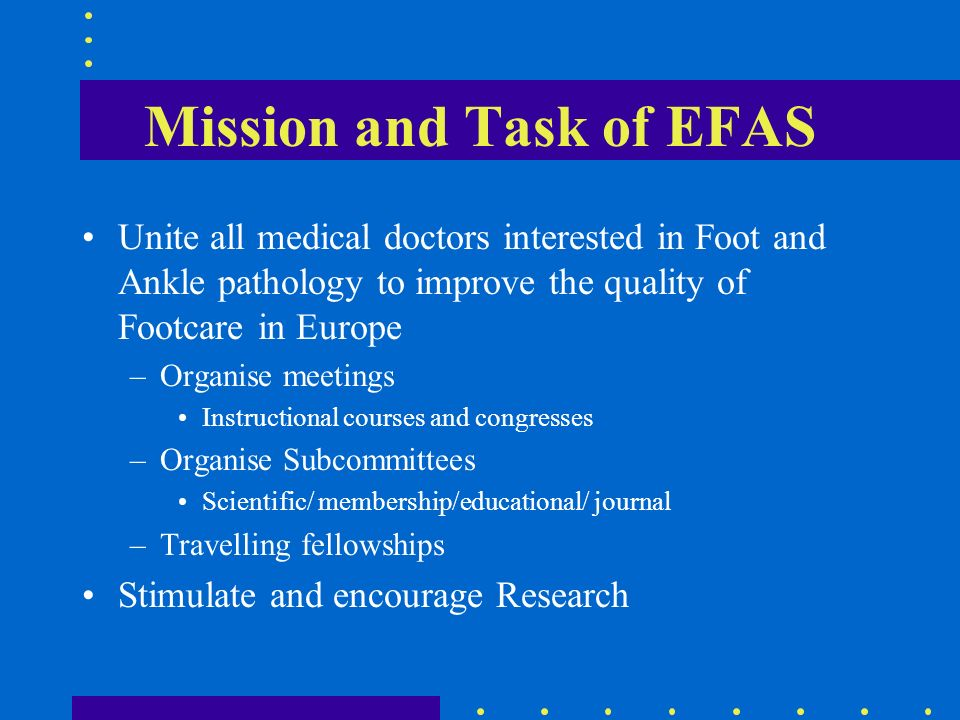 Mission and Task of EFAS