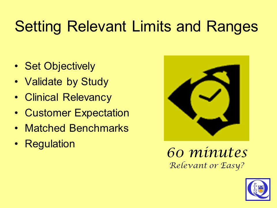 Setting Relevant Limits and Ranges