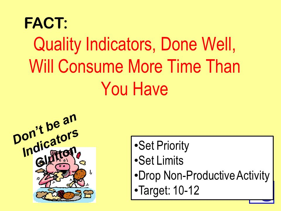 Quality Indicators, Done Well, Will Consume More Time Than You Have