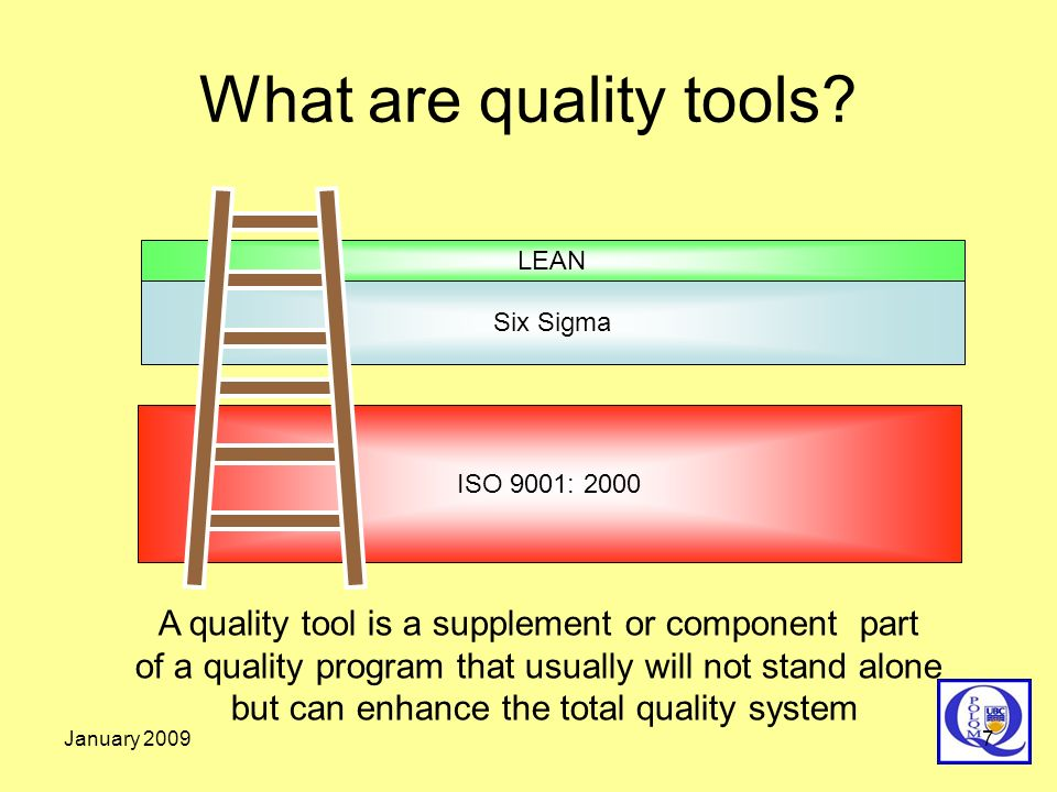 What are quality tools LEAN. Six Sigma. ISO 9001: 2000.