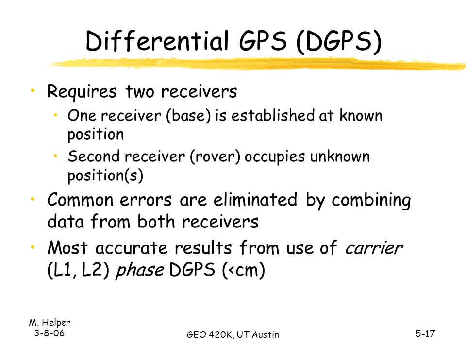 The Global Positioning System - ppt download