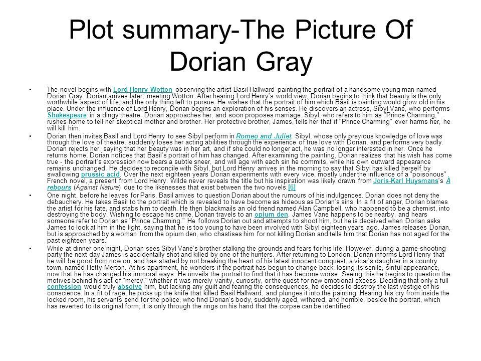 portrait of dorian gray summary