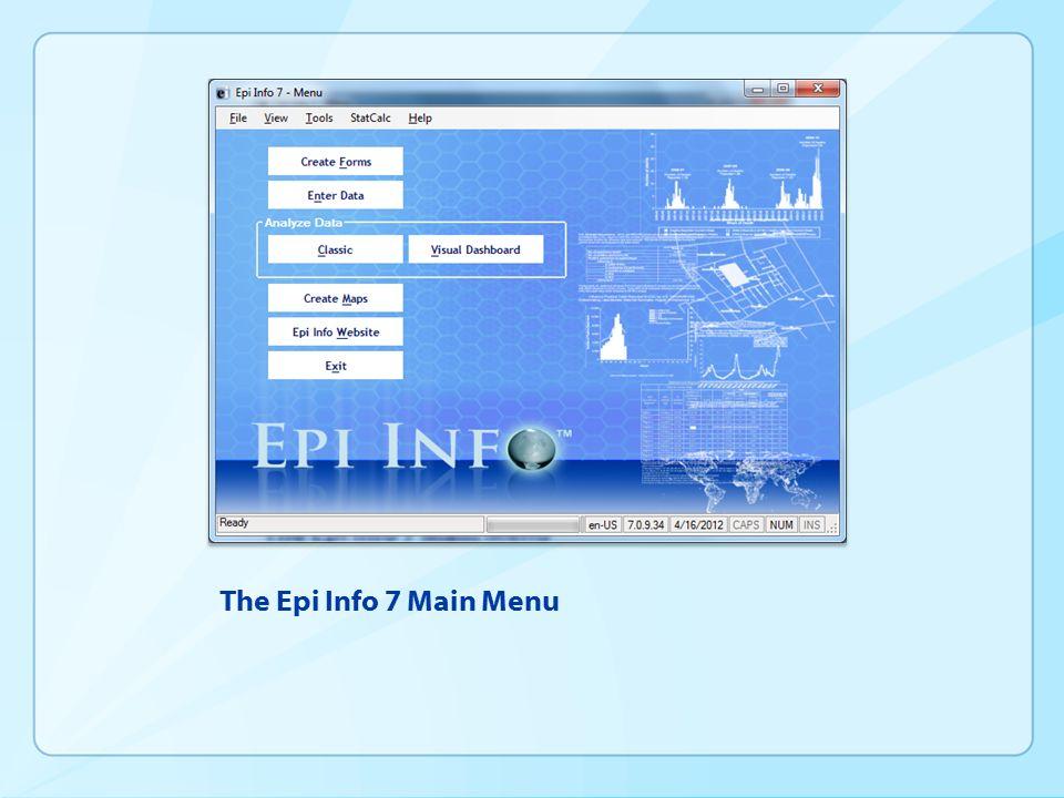 Epi info tutorials.