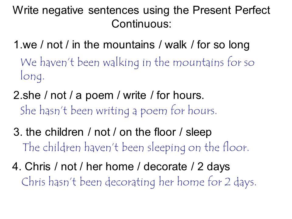 The Present Perfect Continuous (Progressive) Tense - ppt