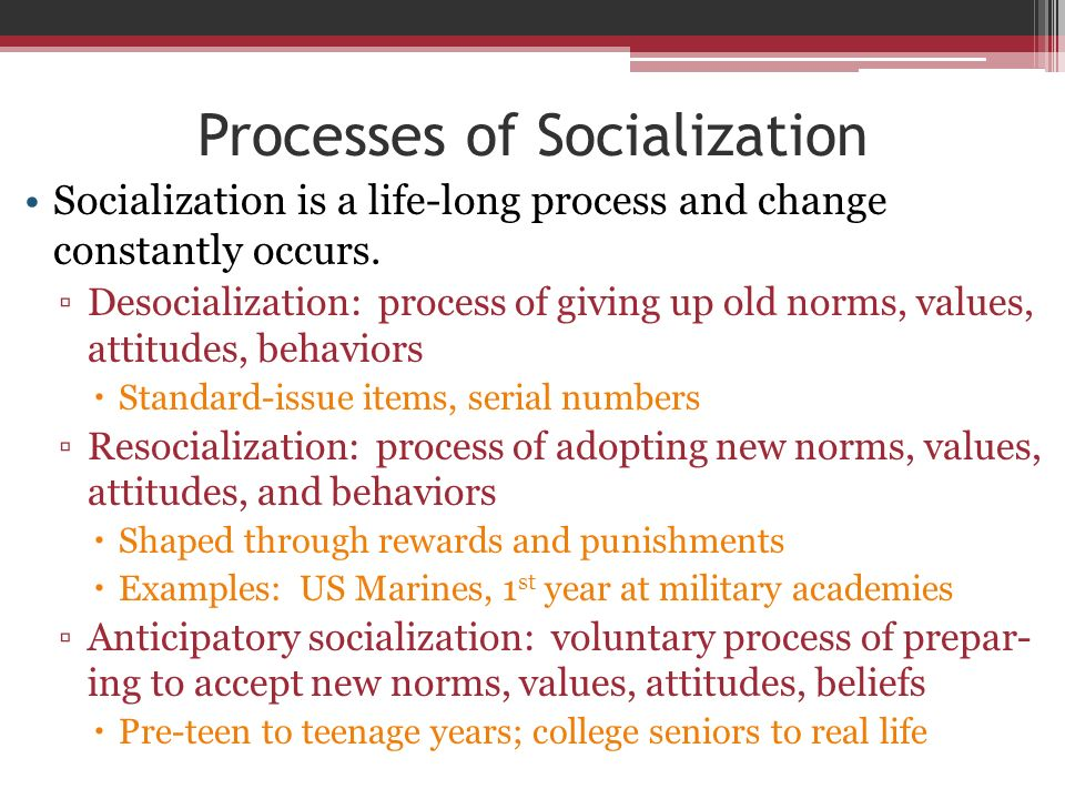 significance socialization The story of genie shows the importance of socialization in human society socialization refers to the preparation of newcomers to become members of an existing group and to think, feel, and act in ways the group considers appropriate.
