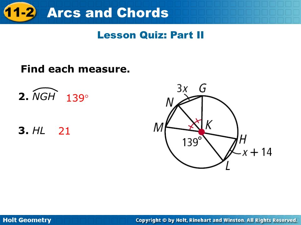 11-2 problem solving arcs and chords