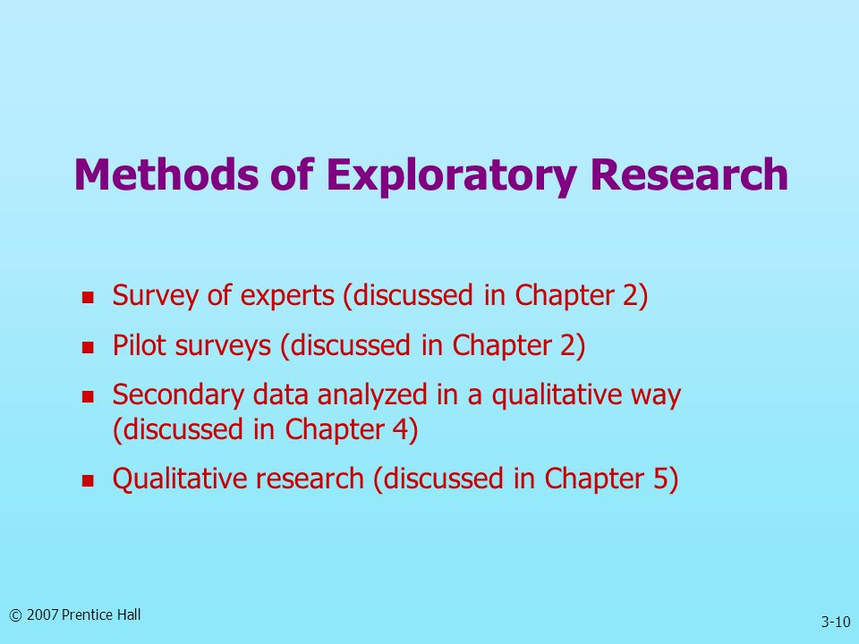 Methods of Exploratory Research