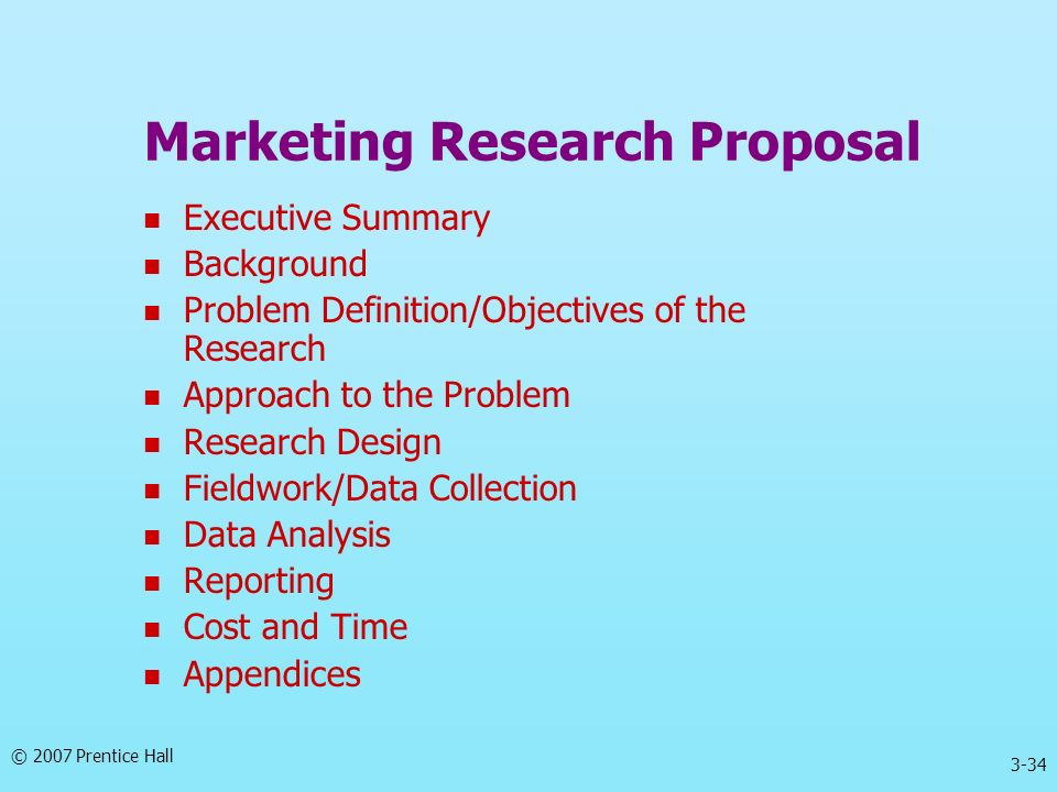 Marketing Research Proposal