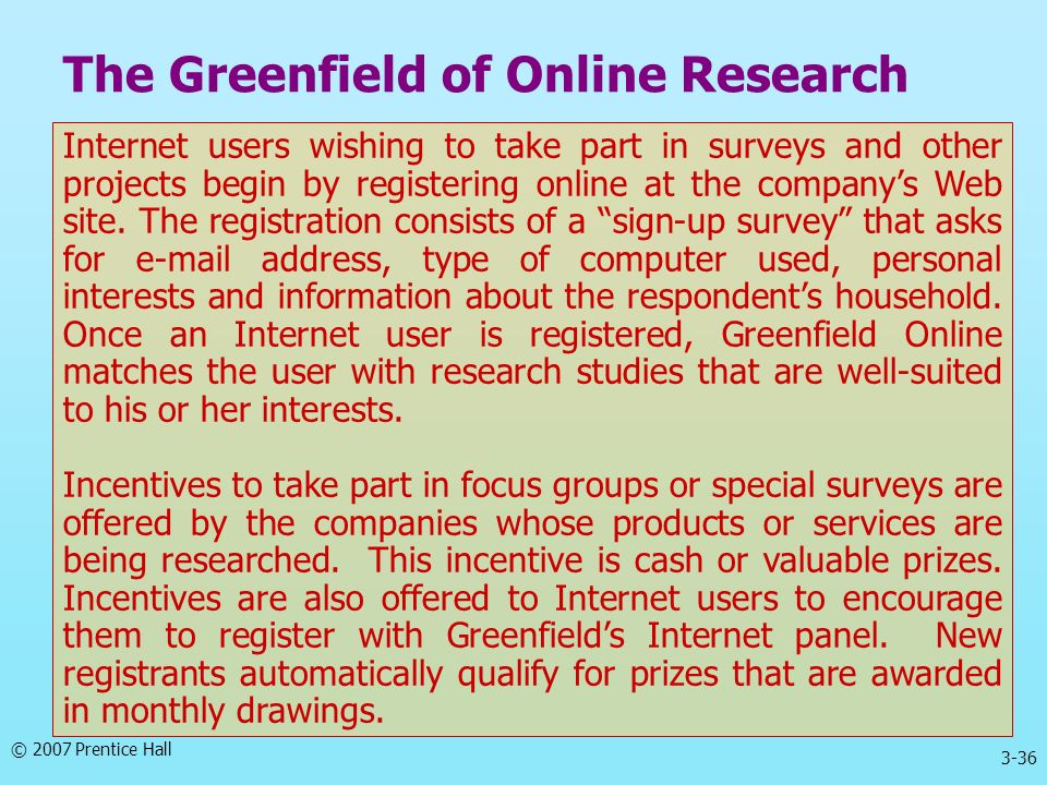 The Greenfield of Online Research
