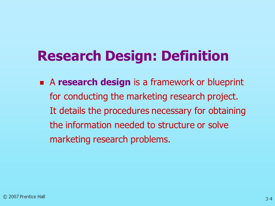 Research Design: Definition