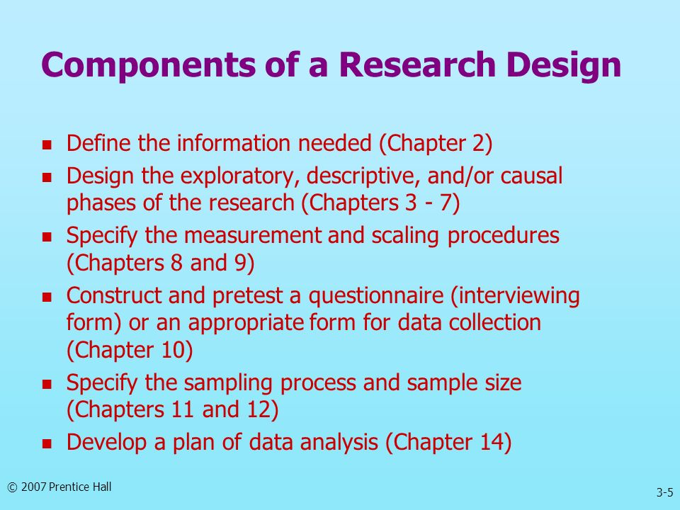 Components of a Research Design